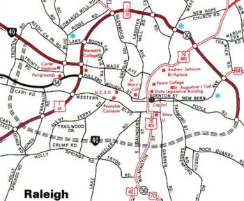 The Baffling Beltline A Photo Essay On The Raleigh Beltlines - Us i 40 map