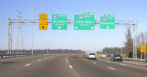 Tennessee road photos i 55 north travelers see next photo must take a left exit to stay on i 55 i 240 west continues publicscrutiny Images