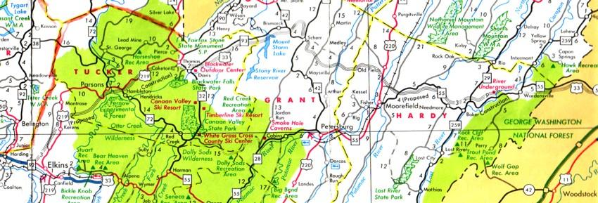 West virginia highway map